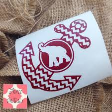 Alabama Anchor Roll Tide Decal State Salt From Threeinitials On