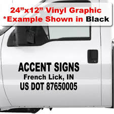 Us Dot Stickers Dot Number Decals For Trucks Fast Shipping