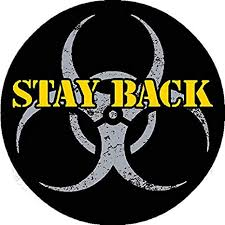2 Inch Stay Back Quarantine Biohazard Alert Vinyl Decal Sticker I Make Decals Perfect Size For Hard Hat Face Shield Phone Tool Lunch Box Amazon Com