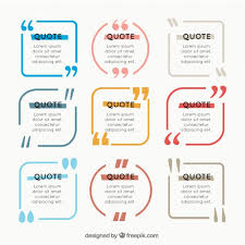 colored quote frame collection vector