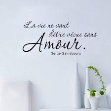 Romantic French Sayings Wall Sticker For Living Room Bedroom Home Wall Decoration Wall Decal Vinyl Wall Decals From Onlybrand 11 68 Dhgate Com