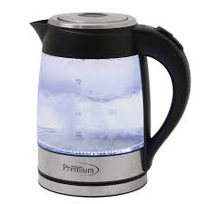 2 quart glass electric tea kettle