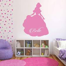 Amazon Com Princess Belle Vinyl Wall Art Personalized Little Girls Room Princess Bedroom Baby Girl Nursery Playroom Wall Decals Handmade