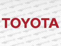 Toyota Logo Decal Stickers