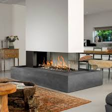 gas fireplace contemporary closed