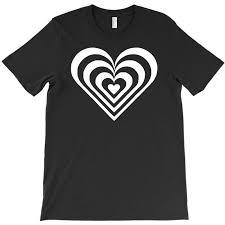 Custom Heart Sticker Vinyl Decal T Shirt By Mdk Art Artistshot
