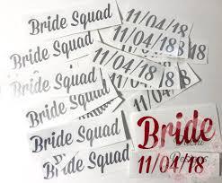 Decals Only Bridesmaids Flip Flops Vinyl Decals With Date Etsy