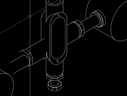 isometric drawing autocad 2d drafting