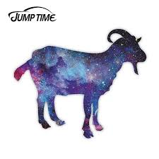 Jump Time Space Goat Vinyl Stickers Capricorn Astrology Sticker Laptop Jdm Decal Car Wrap Bumper Trunk Truck Graphics Car Stickers Aliexpress