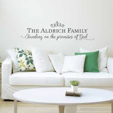 Standing On The Promises Of God Personalized Wall Decal