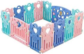 Chulqy Baby Play Fence Children S Fence Baby Safety Toddler Fence Outdoor Park Shatter Resistant Portable Fence Amazon Co Uk Kitchen Home