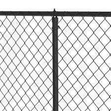 1 5 8 Black Chain Link Fence Line Post Kit At Menards