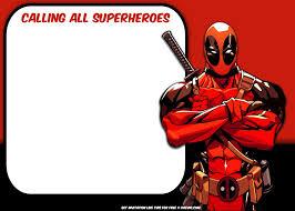 Free Superhero Deadpool Invitation Template Invitaciones De