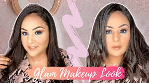glam makeup look how to do