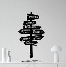 Lord Of The Rings Wall Decal Tolkien Road Sign Vinyl Wall Sticker Interior Home Decor Living Room Movie Murals Removable Tree Wall Decals Tree Wall Decals For Nursery From Joystickers 10 67 Dhgate Com