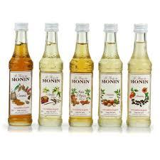 set of 5 coffee syrups by monin monin