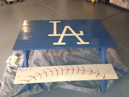 Dodgers Table For Kids Baseball Decor Dodgers Dodgers Baseball