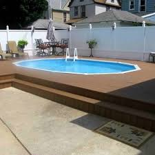 Semi Inground Pool Houzz