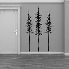 Amazon Com Tall Skinny Pine Trees Set Of Three Vinyl Wall Decal Sticker Handmade