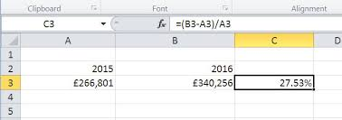how to calculate percentages in excel