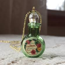 glass perfume bottle with vintage
