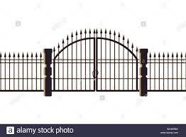 Graveyard Gate And Door Icon Stock Vector Image Art Alamy
