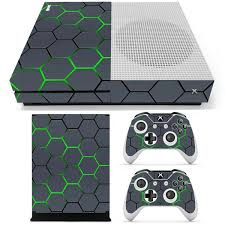 Green Grid Vinyl Decal Skin Stickers Cover For Xbox One S Game Console 2 Controllers Sale Banggood Com Sold Out Arrival Notice Arrival Notice