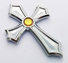 Amazon Com Christian Cross Jesus Cross Car Auto Bike Chrome Emblem Decal Badge 3d Sticker Gold Dome Dot Automotive