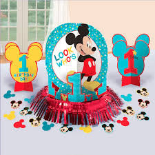 Kit Decoracion Mesa Mickey Mouse 1 Ano Miles De Fiestas