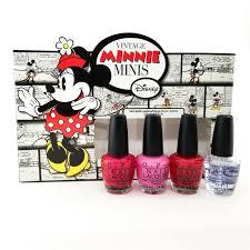 OPI Vintage Minnie Mouse Mini, 1.8fl. oz x 4, OPI Nail Polish mini ...