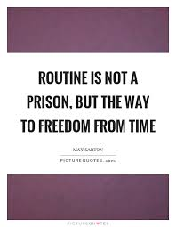 routine is not a prison but the way to dom from time