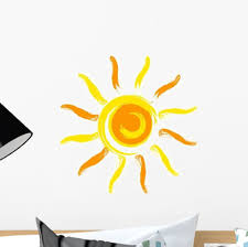 Amazon Com Vector Sun Wall Decal Wallmonkeys Peel And Stick Graphic 12 In W X 12 In H Wm106263 Arts Crafts Sewing