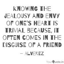 knowing the jealousy and quotes writings by al rowe