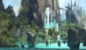 Water Island Sketch | Kalen Chock | Fantasy landscape, Environment ...