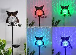 owl shape led solar garden decoration