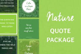 social media quotes nature creative instagram templates