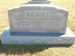 Effie Hawkins Acuff (1888-1973) - Find A Grave Memorial