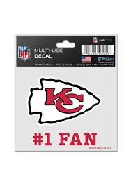 Kansas City Chiefs 3x4 1 Fan Auto Decal Red 5714966