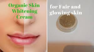 organic skin whitening glowing cream