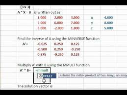 linear equations using excel