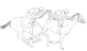 Anti Stress Kleurplaten Paarden Paardenrace 8