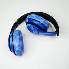 Headphone Skin Headphone Sticker Headphones Protective Sticker Headphones Ultra Thin Protective Decal Wrap Headphones Skin Full Body Premium Authentic Skin Kit For The Beats By Dre Studio 2 Or 3 Wireless Diamond Blue Kahha