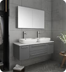 fresca torino 54 gray modern bathroom