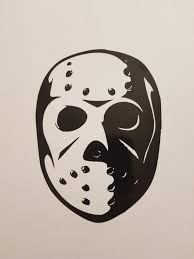 Animated Remake Jason Voorhees Hockey Mask Vinyl Decal Etsy