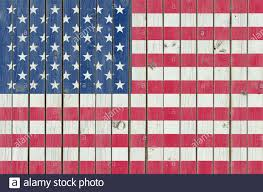 Usa Flag Painted On The Wooden Fence American Background Texture Of The Scratched Weathered Wood Cracked Paint Stock Photo Alamy