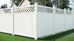 Veranda Lewiston 6 Ft H X 6 Ft W Vinyl Lattice Top Fence Panel Includes 6 Brackets 306117 The Home Depot