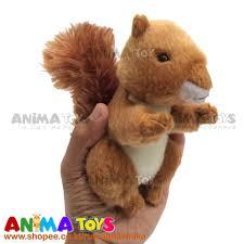 Boneka Hewan Tupai Coklat Mini Brown Squirrel Animatoys SWI175 ...