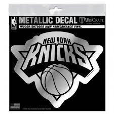 New York Knicks 6 Silver Metallic Style Decal Die Cut Sticker Auto Basketball 614934737194 Ebay