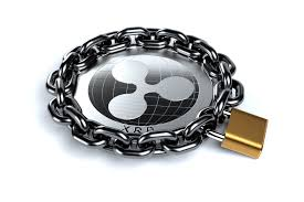 Ripple XRP coin locked with chain free image download