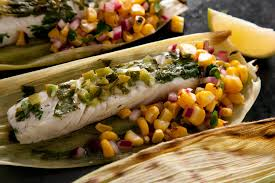 Corn-Husk-Wrapped Grilled Halibut with ...